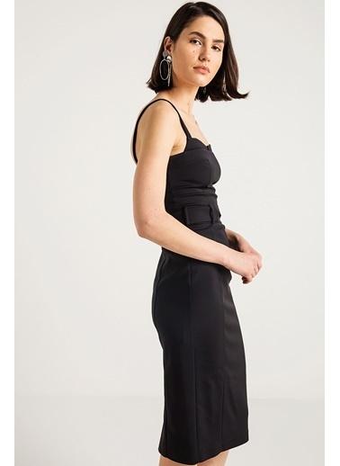 Askılı Kalem Elbise-Rue